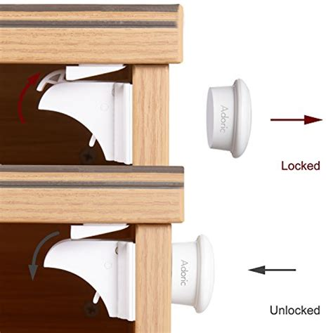 No Drill Magnetic Cabinet Locks by Adoric Baby Safety Magnetic Cabinet Locks 6 Locks 2