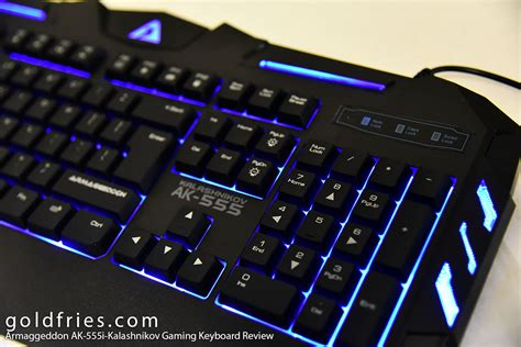Keyboard Gaming Armageddon armaggeddon ak 555i kalashnikov gaming keyboard review goldfries