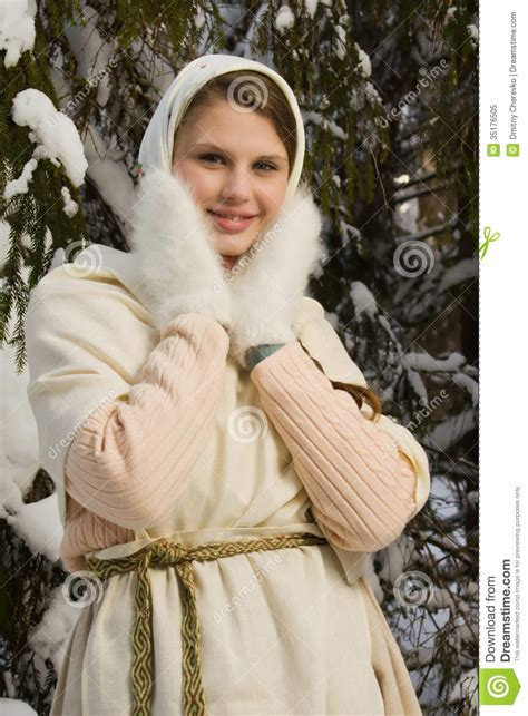 beautiful in russian russian beautiful in the winter forest royalty free stock photo image 35176505