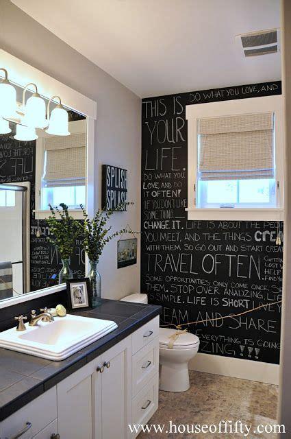 chalkboard paint bathroom interior chalkboard designs renovator mate