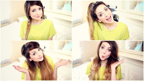 really easy hairstyles zoella how to my quick and easy hairstyles zoella youtube