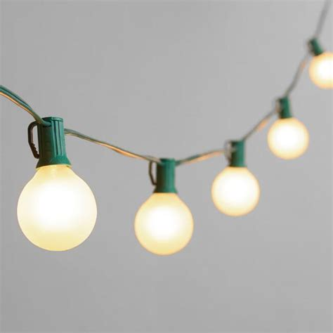 string bulb lights outdoor frosted bulb string lights world market