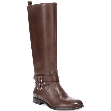 enzo angiolini shoes enzo angiolini daniana boots in brown lyst