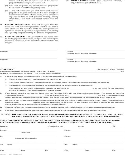 association agreement template connecticut realtor association residential lease