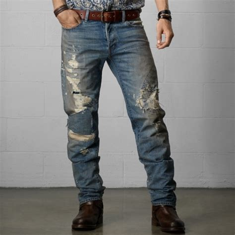 Ripped Channel Navy denim supply ralph denim supply distressed fit jean where to buy how to wear