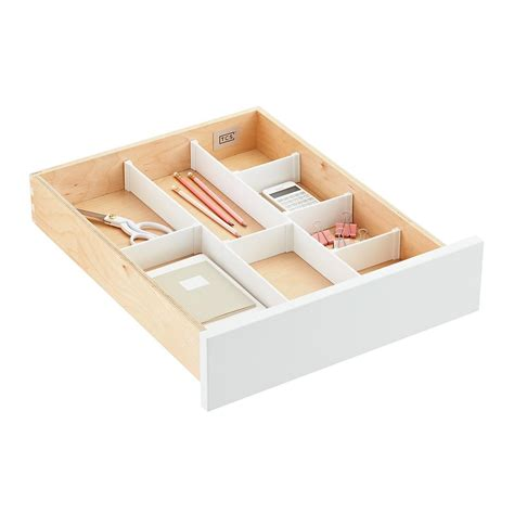 Custom Drawer Dividers by Custom Drawer Organizer Strips The Container Store