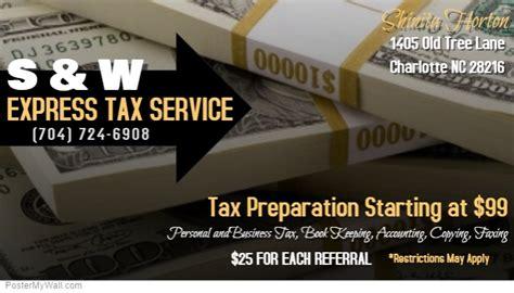 tax preparation business cards templates tax preparation business card template postermywall