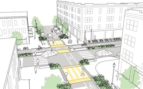 city of boston s complete street design guidelines urban intersections of major and minor streets explained and