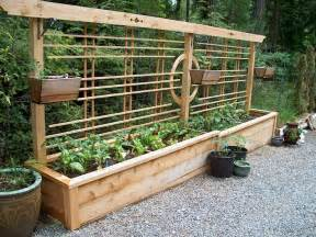 Beautiful raised bed with built in trellis from gabriola girl blog