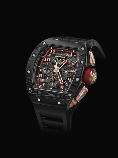 Rm 011 Lotus F1 Team Ntpt Chronograph Carbon Black Pvd Stainless Steel richard mille partnership with the driver grosjean