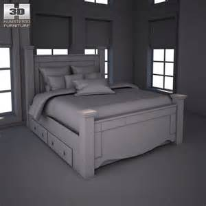 shay poster bed with storage 3d model