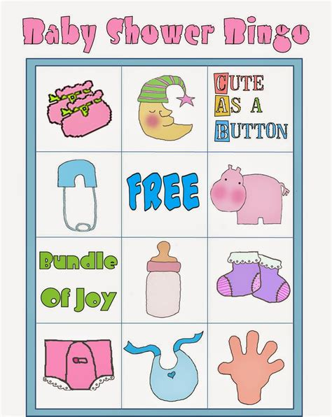baby shower colors free printable baby shower bingo in colors oh my baby