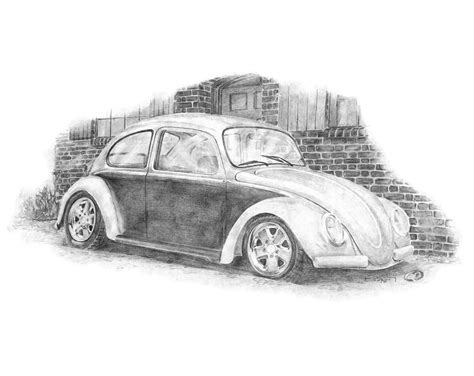volkswagen bug drawing classic vw pencil drawings thatdesigner thatdesigner