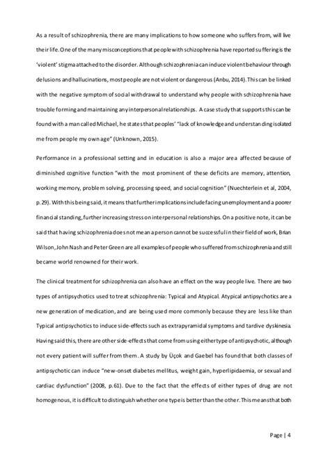 Schizophrenia Essay by Schizophrenia Essay