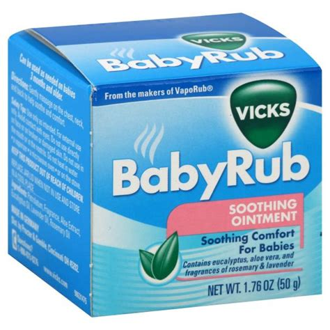 soothing ointment for babies vicks babyrub ointment soothing 1 76 oz 50 g health