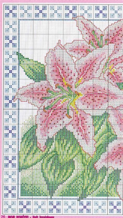 cuscini punto croce schemi cuscino gigli rosa 2 magiedifilo it punto croce