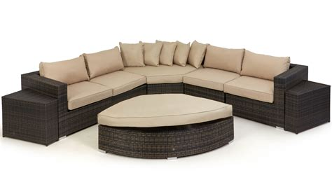 Barcelona Deluxe Rattan Corner Sofa Set Crownhill