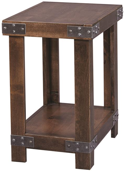 davis chairside table with power highland court davis chairside table with metal accents