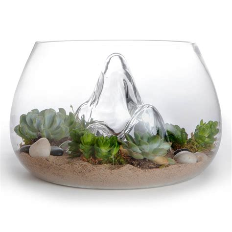 Glass Planters by Award Winning 12 7 Quot Glass Terrarium Indoor Garden Nova68