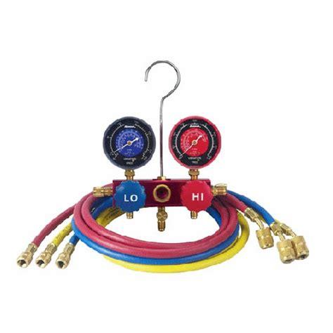Manifold Robinair robinair 41146 r410a manifold hose set 60 in enviroguard hoses with seal fitting at