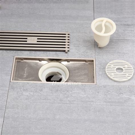bathroom floor drain modern brushed nickel high end parallel shower drain