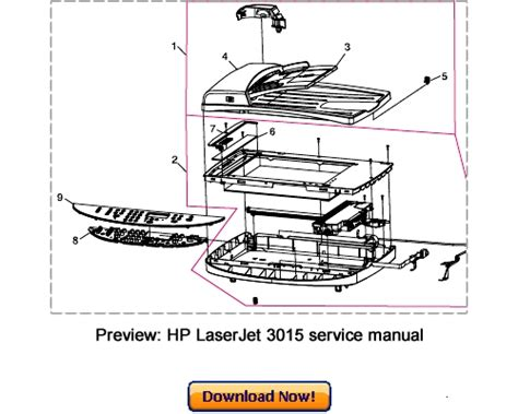 Hp Laserjet 3015 3020 3030 Service Repair Manual Download