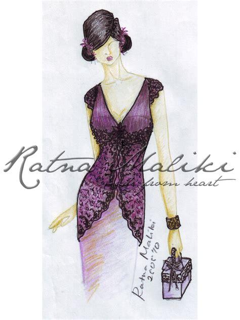 desain baju batik dress pendek contoh desain sketsa kebaya fashion busana adat