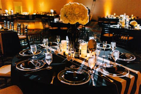 Black And Gold Table Decorations by Gold And Black Wedding Ideas