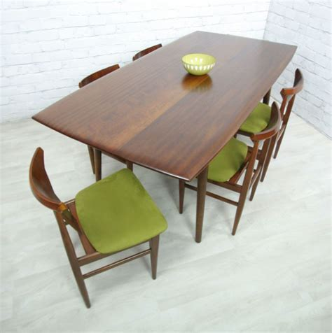 50s Dining Table And Chairs Retro Vintage Teak Mid Century Style Dining Table Eames Era 50s 60s Style Retro