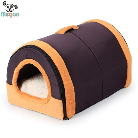 dog house for winter folding portable pet dog house winter puppy beds fleece lining warm cat tunnel bed s m