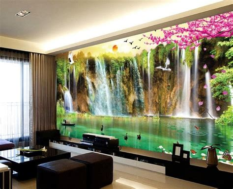 waterfall decoration for homes 6pcs set creative 3d diy