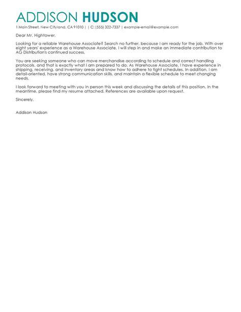 Warehouse Position Cover Letter – Cover Letter For Warehouse Job   Resume Badak