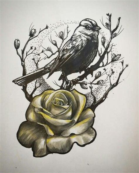rose and sparrow tattoo 25 best ideas about sparrow design on