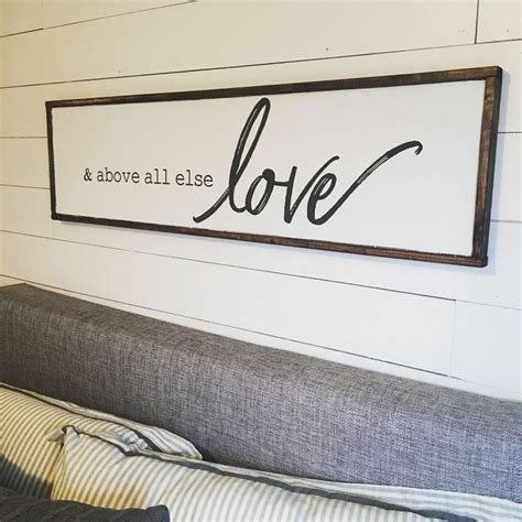 bedroom wall signs best 25 above bed decor ideas on pinterest