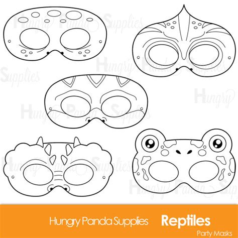alligator mask template printable reptile printable coloring masks lizard mask turtle