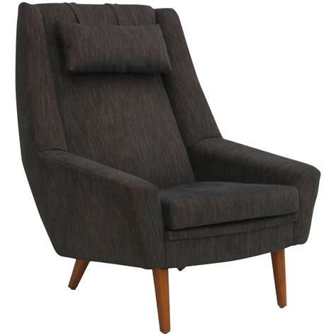 Scandinavian Chairs by Scandinavian Modern High Back Lounge Chair At 1stdibs