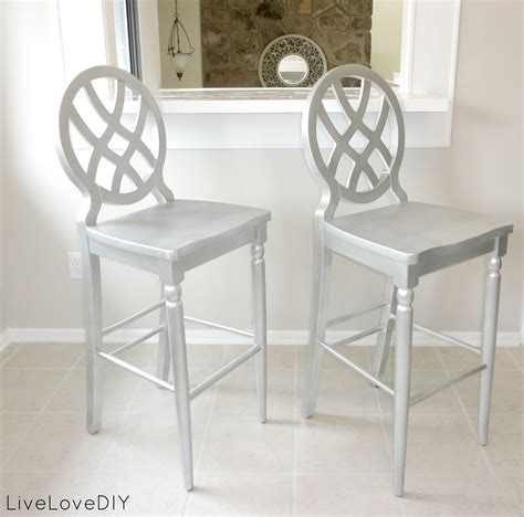 rustoleum spray painted chairs these remind me of all livelovediy creative ways to update your kitchen using paint