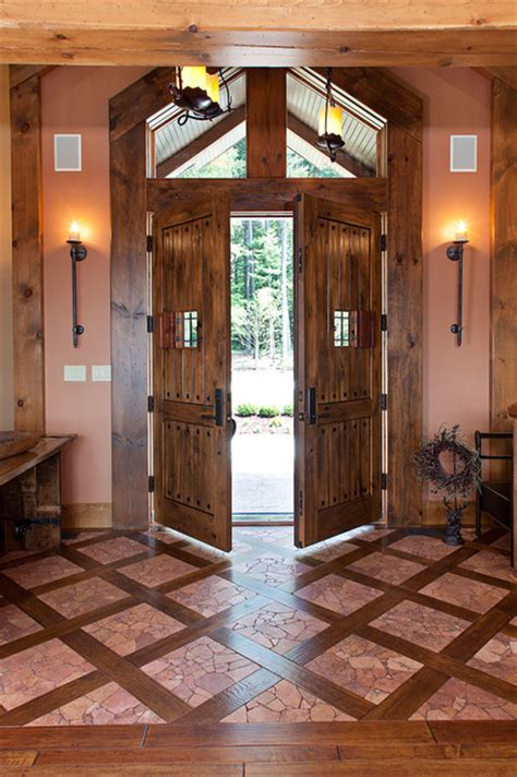 Wisconsin Front Door Housing Jackson Version Ii By Wisconsin Log Homes Rustic Entry Other Metro By Wisconsin Log