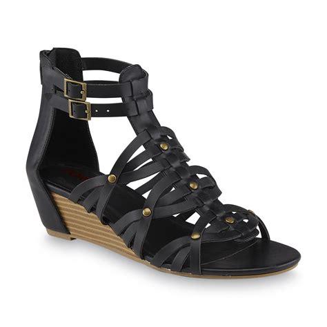 shopping sandals bongo s black gladiator wedge sandal shop