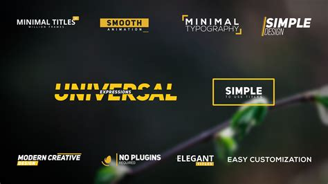 templates after effects envato 10 minimal clean titles titles envato videohive