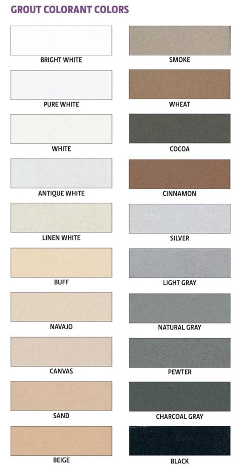 grout colors home depot aqua mix grout colorant chart aqua mix 174 australia
