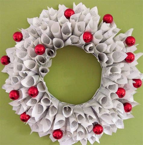 How To Make Paper Wreaths - diy wreaths made from recycled paper recycled things