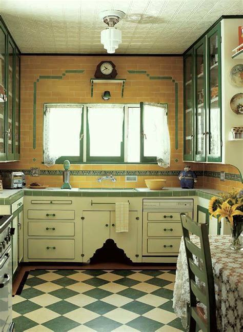 deco kitchen design 1930s interiors weren t all black gold and drama