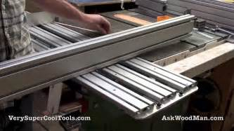accusquare table saw fence diy table saw sliding crosscut carrier