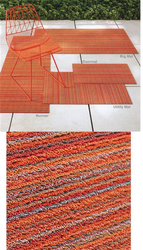 Chilewich Outdoor Rugs Chilewich Shag Stripe Indoor Outdoor Doormat Nova68