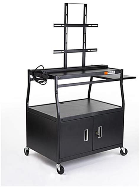 multimedia cart with locking cabinet multimedia carts tv cart w storage cabinet 40 quot 55 quot tv s