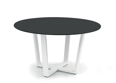White Modern Outdoor Furniture - manutti fuse round garden table contemporary garden furniture garden tables