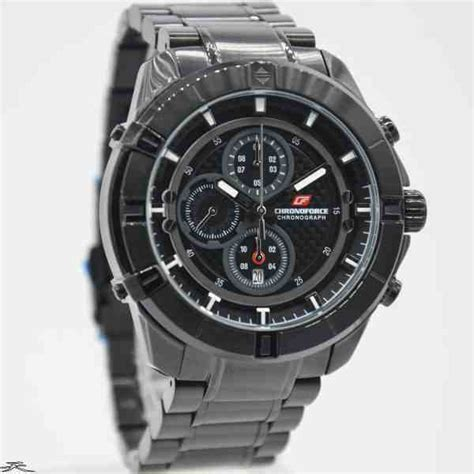 Chronoforce Black White Original jual jam tangan pria chronoforce 5251mb black baru