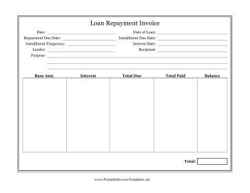 Download Loan Invoice Template Free Rabitah Net Mortgage Invoice Template