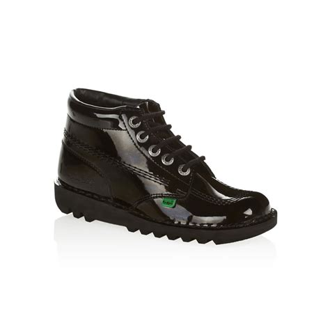 Kicker Leather kicker s kickers kickers kick hi womens black patent